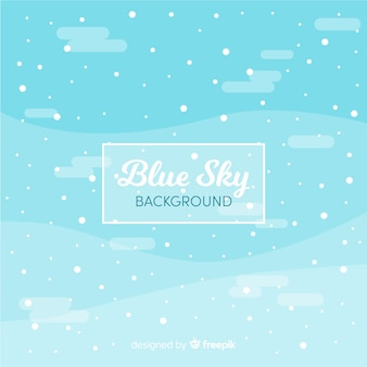 Snowy sky background