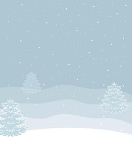 雪の降る冬の垂直背景。ベクトルイラスト。
