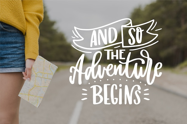 And so the adventure begins lettering