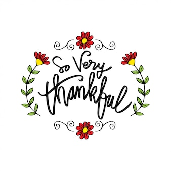 So very thankful greeting card.