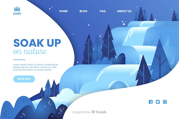 Soak up on nature web template