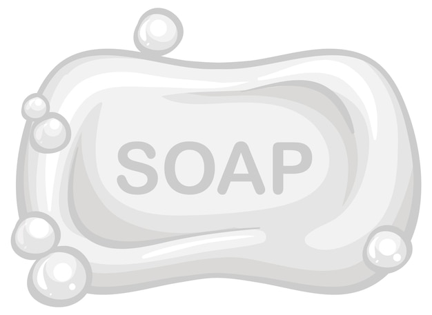 Soap bar with bubble isolated on white background