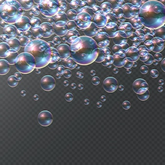 Мыльный пузырь на прозрачном фоне