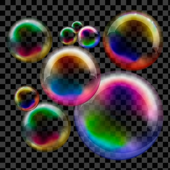 Soap bubble transparent. vector sphere.