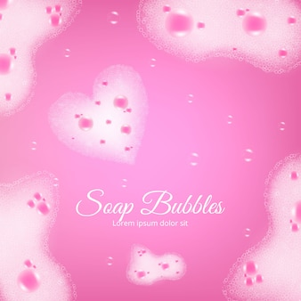Soap bubbles realistic background