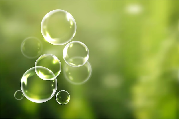 Soap bubbles in summer
