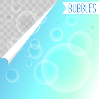 Soap bubbles white shampoo clipart