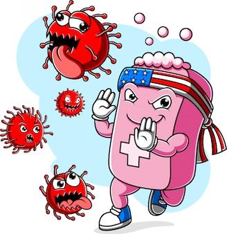石鹸の戦いコロナウイルスcovid 19