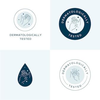 石鹸のロゴコレクション 無料ベクター