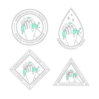 Soap logo template set