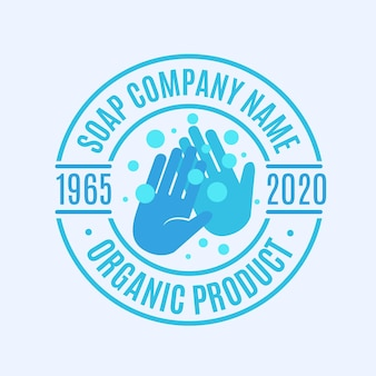 Soap logo template with hands