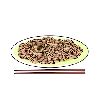 Soba is a typical food from japan