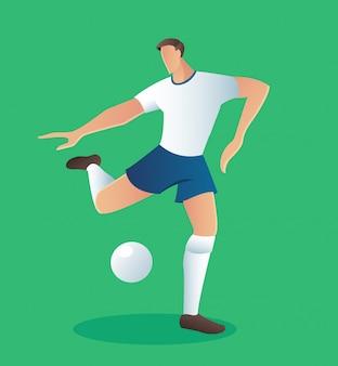 サッカーアクション選手