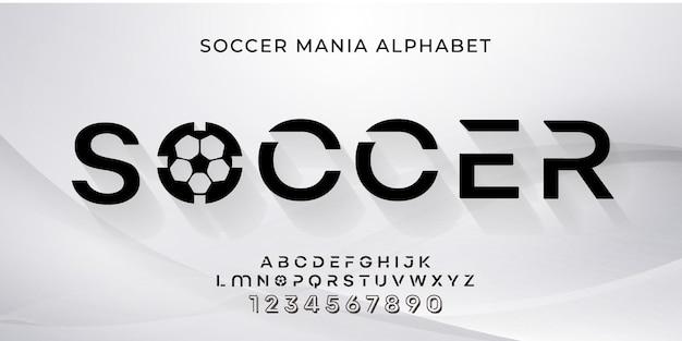 数字で設定されたサッカーアルファベット