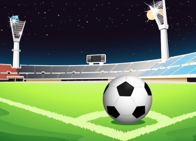 Футбол ночью
