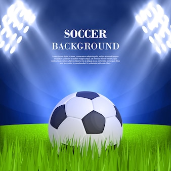 Soccer background concept