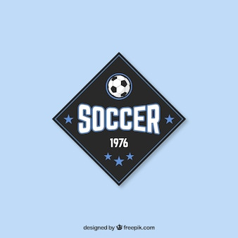 Soccer badge in vintage style