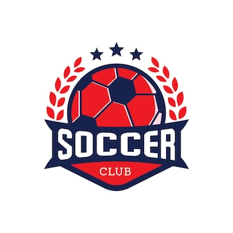 Soccer badges label vector