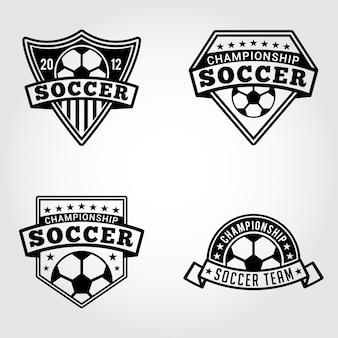 サッカーバッジとロゴ