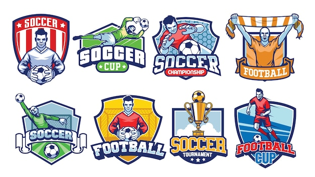 Soccer badges set