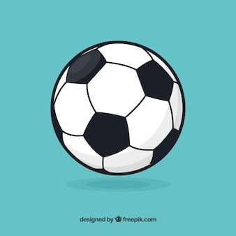 フラットスタイルのサッカーボールの背景