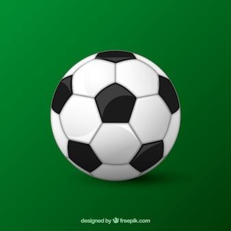 Sfondo di pallone da calcio in stile realistico