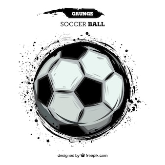 Soccer ball background with paint texture