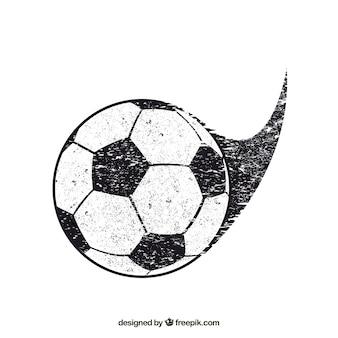 Fondo del pallone da calcio con struttura