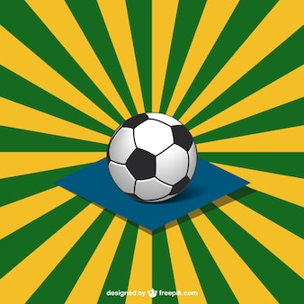 Soccer ball and brazilian sunburst