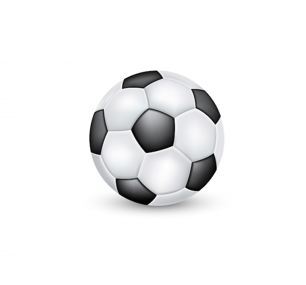 Soccer ball classic black and white .