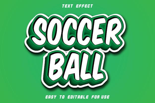 Soccer ball editable text effect emboss modern style