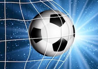 目標に飛んでサッカーボール