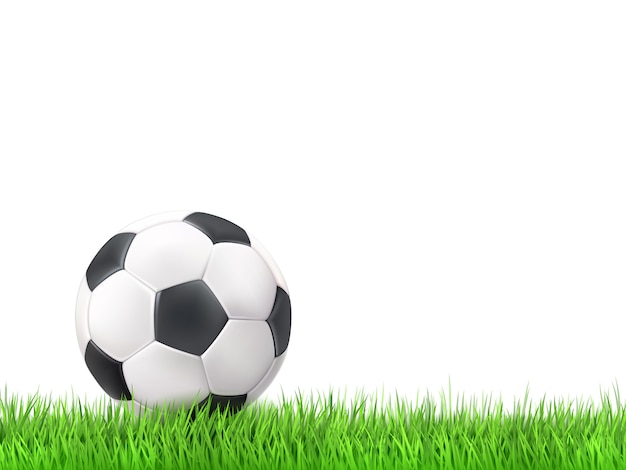 Soccer ball grass background