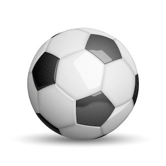 축구 공 흰색 절연