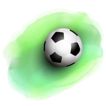 水彩画の背景にサッカー