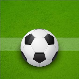 Футбольный мяч на поле. задний план.