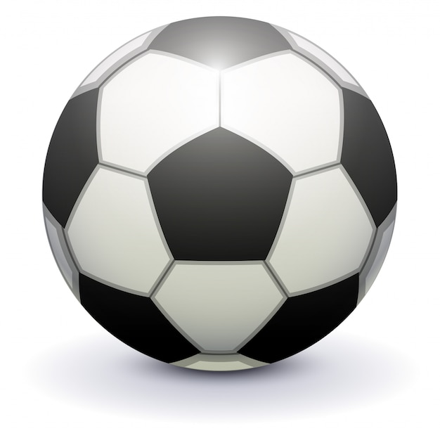 Soccer ball for playing football on white background