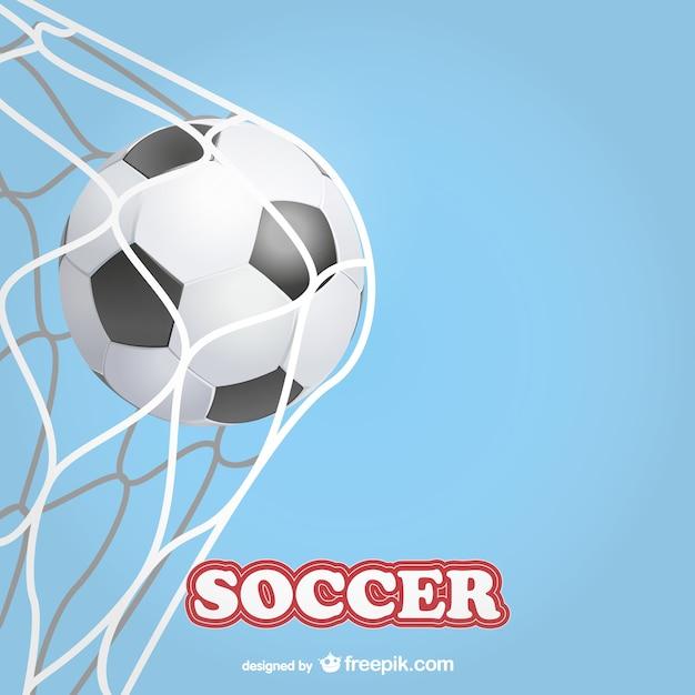 Soccer ball in soccer goal
