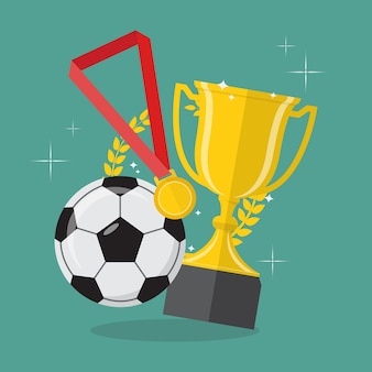 Soccer ball with achievement awards