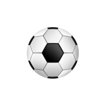 Soccer ball with classic  isolated.  illustration.
