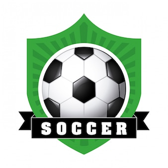 Soccer ball with ribbon