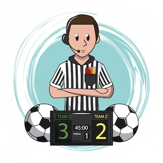 Soccer cartoon elements