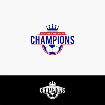 Soccer champion logo