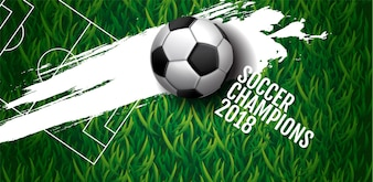 Soccer championship cup background