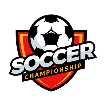 Soccer championship logo club competition