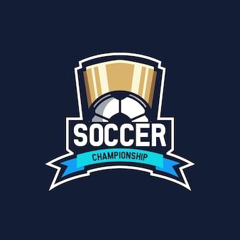 Soccer championship logo team