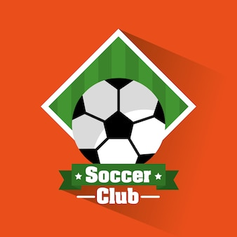 Soccer club ball banner sport
