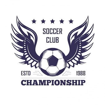 Soccer club championship emblem