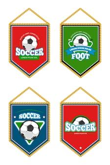 Выставлены футбольные клубные вымпелы