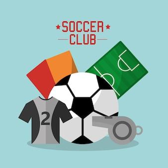 축구 클럽 티셔츠 공 휘파람 카드 필드 스포츠 장비